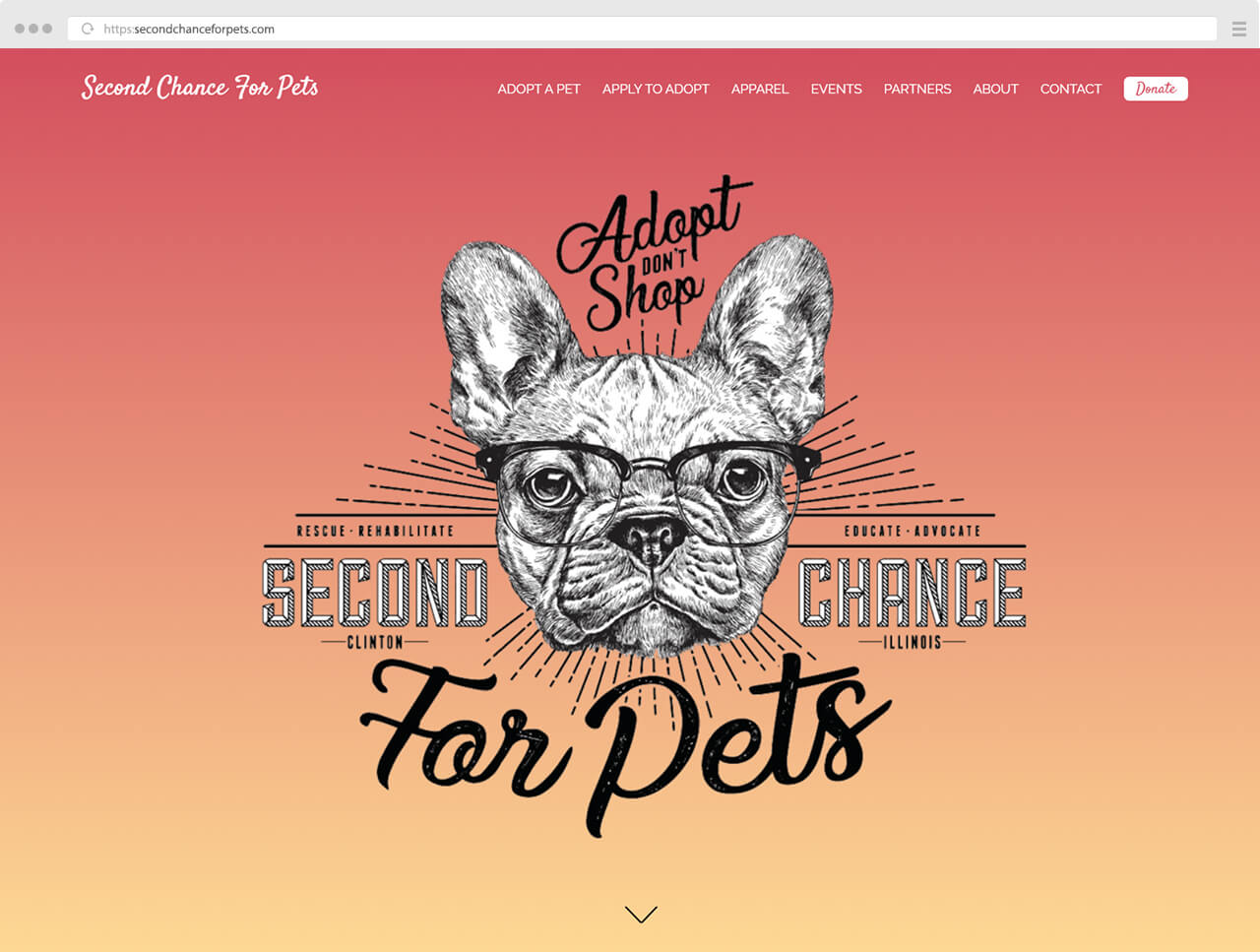 Second Chance for Pets Website